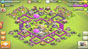 layout coc town hall level 7 clash of clans town hall level 7 base redesign youtube