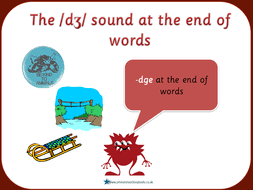 spag year 2 spelling ge and dge at the end of words by