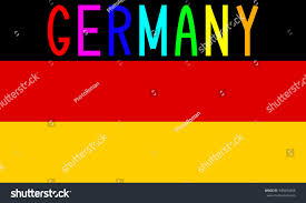 Germany Flag Colors German Flag Correct Proportions Colors Word Stock Vector 349094408