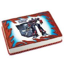 transformers bumblebee and optimus party cake topper transformers optimus prime edible cake topper 1