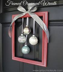 Easy To Make Home Decorations Diy Framed Ornament Wreath Welcome Home Tour Diy Frame