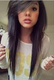 short top layers for long hair i love her hair cut side swept bangs long hair but short top