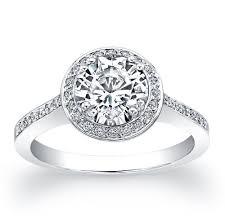 vintage halo engagement rings vintage 18kt white gold halo engagement ring 0 20