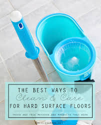 the best way to clean and care for surface floors cleaning
