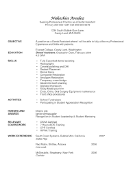 orthodontic assistant resume objective view resume examples best