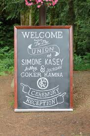this chalkboard sign by band wedding signage pinterest