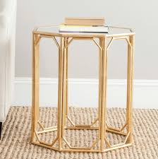 accent table ideas furniture dalton hexagonal mirrored accent table for home