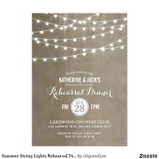 Rehearsal Dinner Invitations Dinner Invitations Summer String Lights Rehearsal Dinner