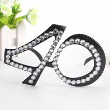 diamond party supplies funny no 40th crystal diamond decorated glasses novelty mask for