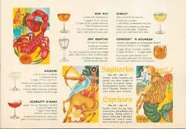 vintage martini illustration the happy hour of aquarius