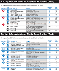 Dc Metro Bus Map by Shady Grove Metro Station