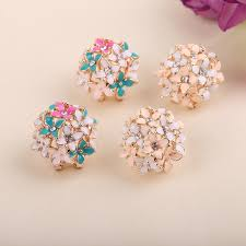 korean earings lnrrabc gold leaf flower piercing ear studs earrings boucle women