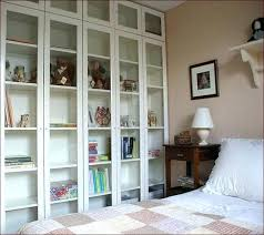 Glass Bookcase With Doors Bookcase Glass Door Theentertainmentworld Us