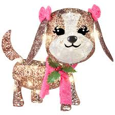 lighted dog christmas lawn ornament lighted christmas dog decorations psoriasisguru com