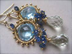 Chandelier Earrings Etsy Kyanite And Spessarite Garnet Chandelier Earrings By Smvdesigns