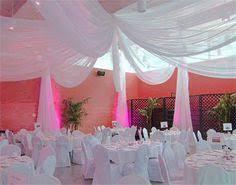 Chiffon Ceiling Draping Uplight Ceiling Drapery Wedding Drapery Chandelier Www