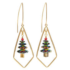 dazzling swarovski christmas tree earrings beading projects