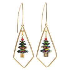 dazzling swarovski tree earrings beading projects
