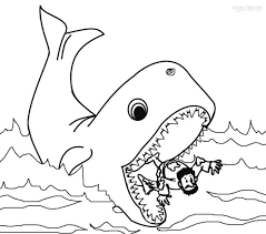 Jonah And The Whale Coloring Pages Free Coloring Beach Whale Color Page
