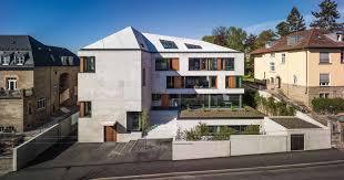 Buro Einrichtung Beton Holz Bürohaus Blocher Blocher Partners Stuttgart Beton Büro