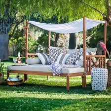 Patio And Porch Furniture by Belham Living Brighton Outdoor Daybed And Ottoman Natural
