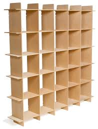 Cubic Bookcase 25 Cube Wood Storage Bookcase Contemporary Bookcases By