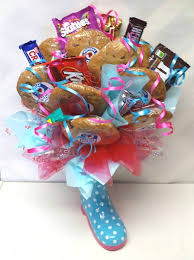 cookie basket sweet bouquets valentines candy bouquets gift baskets cookie