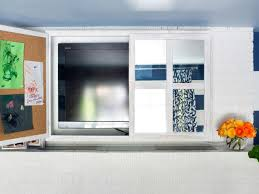 mirror cabinet tv cover turn a kitchen cabinet into a flat screen tv cover hgtv