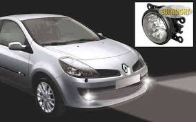 led daytime running lights and fog lights renault clio iii from