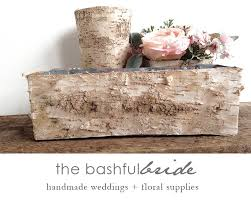 Birch Bark Vases Birch Centerpiece Birch Bark Vase Wedding Arrangement Box