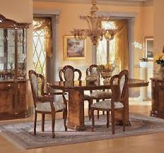 italian living room set esf milady walnut classic italian dining table set 7pcs made in
