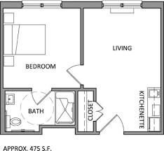 One Bedroom Apartment Layout One Bedroom Apartment Plans And Designs One Bedroom Apartment Plan