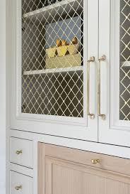Office Cabinet With Doors Built In Office Cabinets With Metal Lattice Doors Transitional