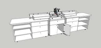 eco studio project miter saw bench
