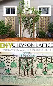 diy chevron lattice trellis tutorial tutorials flower and spring