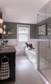 best 20 white tile bathrooms ideas on pinterest modern bathroom this look white hex floor tile with white subway tile in the bathroom