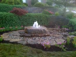 Rock Garden With Water Feature Landscaping Water Features Aching Acres Landscaping