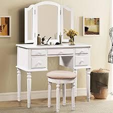 white bedroom dressing table amazon com merax vanity set w stool make up dressing table