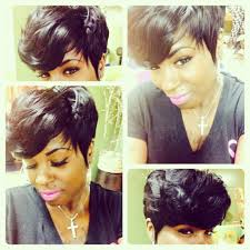 hair weave for pixie cut full short weave by tanya shannon sewin pinterest short