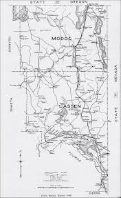 Lakeview Oregon Map by Modoc County