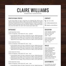 word resume templates instant resume template cv template for ms word