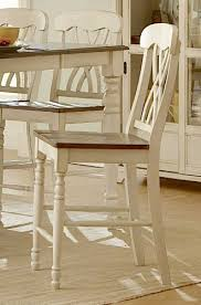 Antique White Chairs Amazon Com Ohana Counter Height Chair Set Of 2 Finish Antique