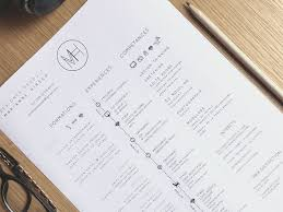 resume white space the essential elements of creative resume design
