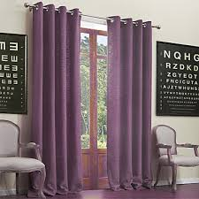 Purple Curtains For Living Room Rod Pocket Grommet Top Tab Top Double Pleated Two Panels Curtain