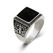 aliexpress buy mens rings black precious stones real lovely mens rings for less