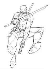 deadpool wolverine coloring pages enjoy coloring color