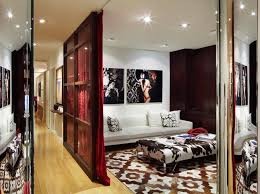 Mirror Room Divider by Room Divider Curtain Home Theater Contemporary With Artwork Caadre