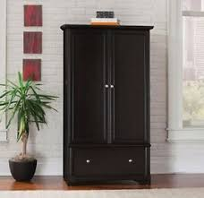 armoire wardrobe storage black closet bedroom furniture bedroom