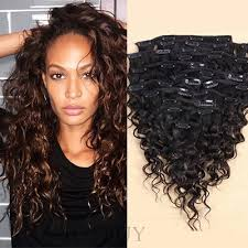 clip in human hair extensions curly 7 pcs clip in human hair extensions wigsbuy
