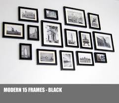 homeloo wood wooden photo picture frame wall collage set of 15